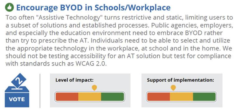 Encourage BYOD in Schools/Workplace. Description follows.