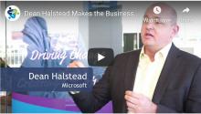 Screenshot of video of Dean Halsted, Microsoft speaking