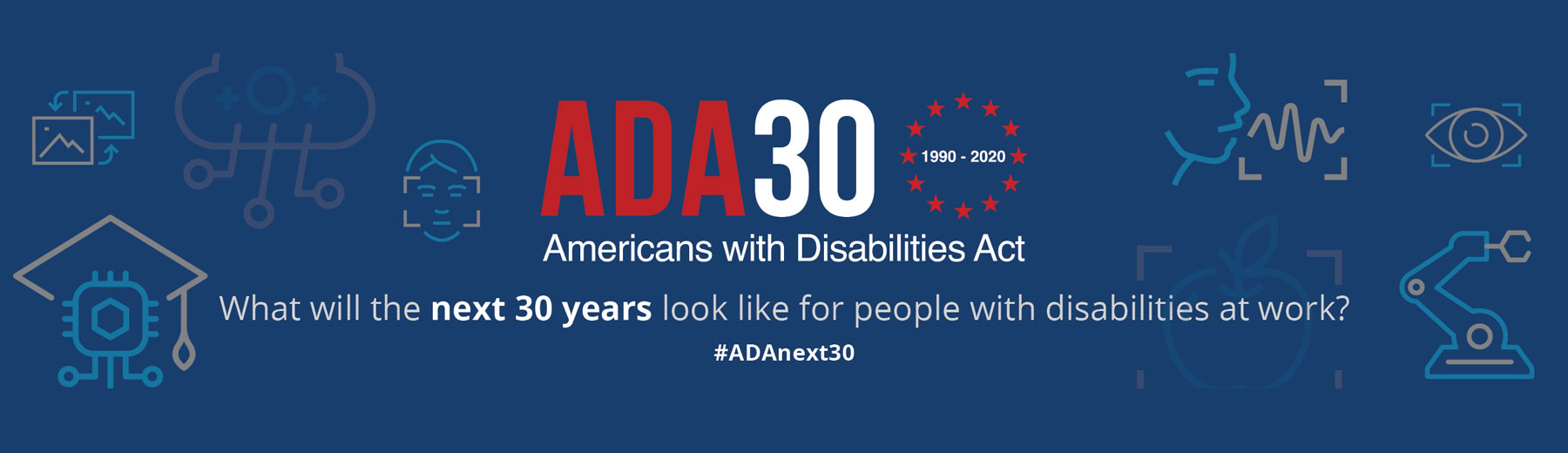 ADA30 1990-2020 - Americans with Disabilities Act. What will the next 30 years look like for people with disabilities at work? #ADAnext30