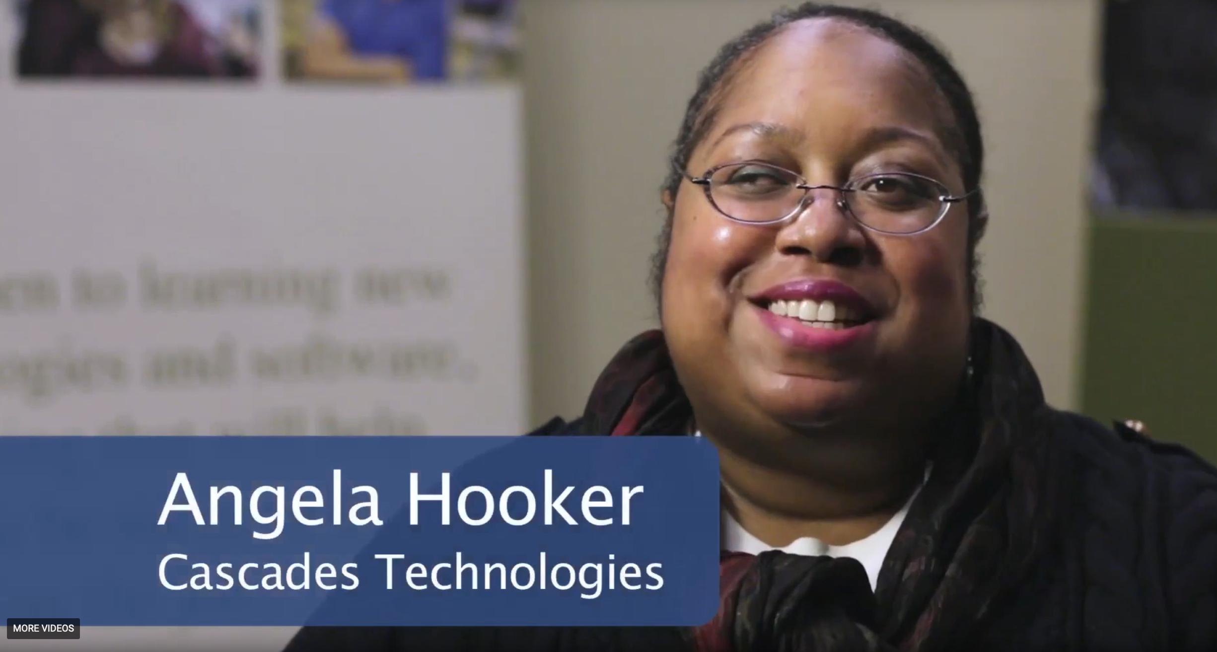 vdieo screenshot of Angela Hooker, Cascade Technologies
